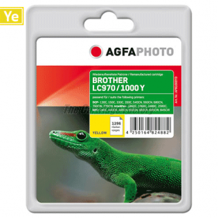 AGFAPHOTO Inktcartridge Brother LC970/LC1000Y