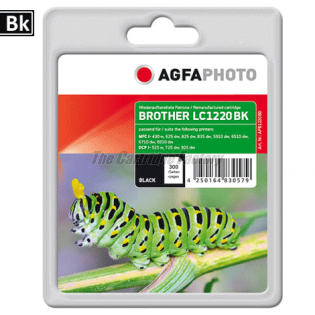 LC1220/LC1240BK AGFAPHOTO Inktcartridge Brother