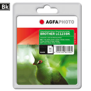 LC123BK AGFAPHOTO Inktcartridge Brother