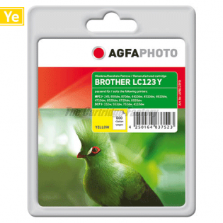 LC123Y AGFAPHOTO Inktcartridge Brother