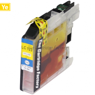 TCF Inktcartridge Brother LC123Y