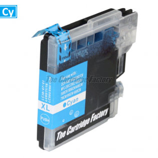 TCF Inktcartridge Brother LC1100C