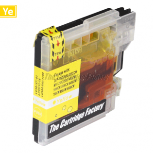 TCF Inktcartridge Brother LC1100Y